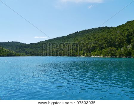 The azure blue of the Croatian Polace bay