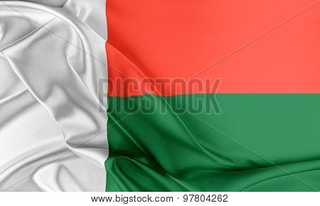 Madagascar Flag.