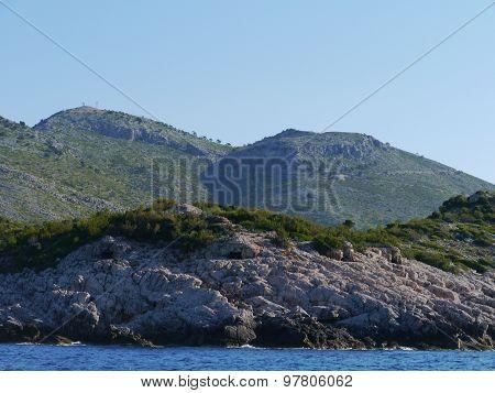 The south coast of Lastovo in Croatia