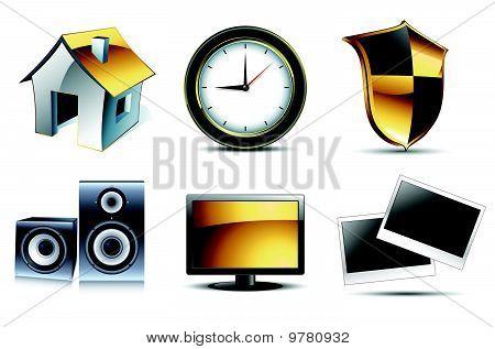 Web icons high detailed set