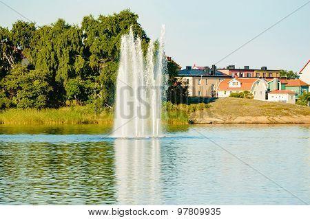 Fountain In The Sea