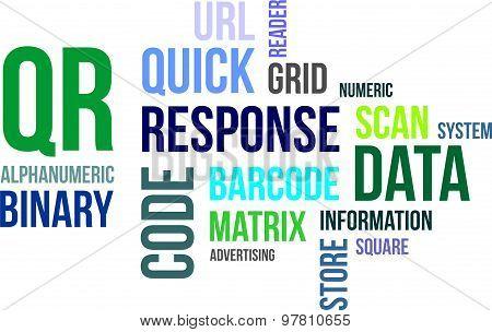 word cloud - qr code