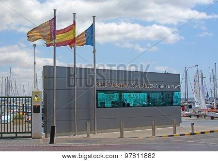 Flags At The Club Maritim