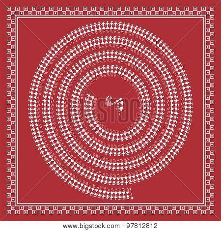 Indian tribal Painting. Warli Painting