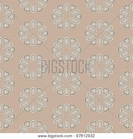 Seamless Ornate Pattern In Brown