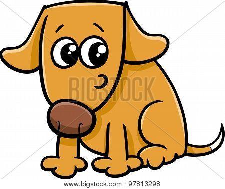 Dog Or Puppy Cartoon Illustration