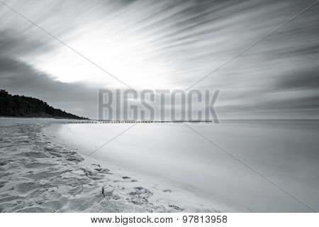 Twilight On The Calm Baltic Sea