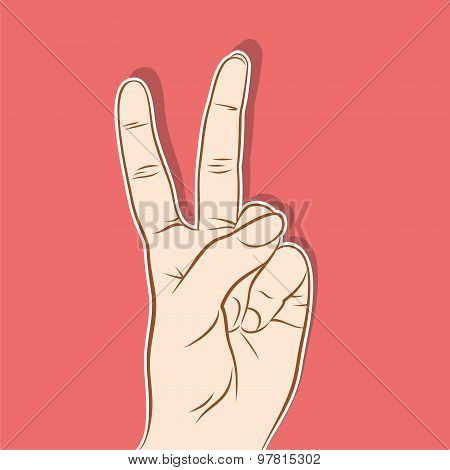 victory symbol design