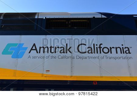 Caltrans and Amtrak California Logos