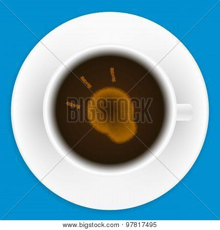 White mug of coffee
