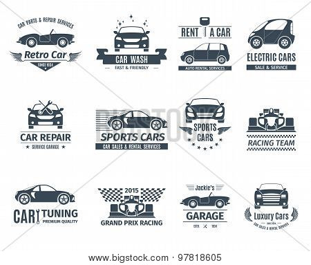 Car Logo Set Black