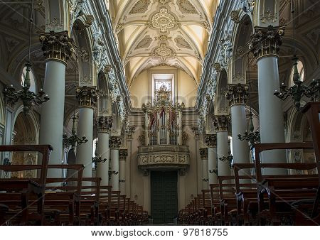 Cathedral Of San Giovanni Battista In Ragusa. Sicily, Italy.