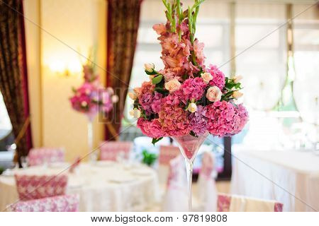 Beautiful flowers on the table
