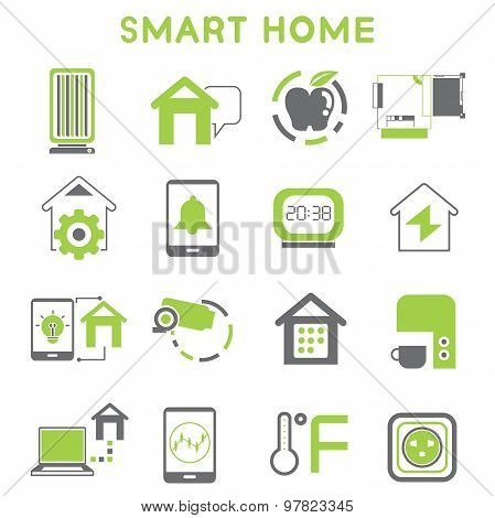 smart home icon vector photo bigstock. Black Bedroom Furniture Sets. Home Design Ideas