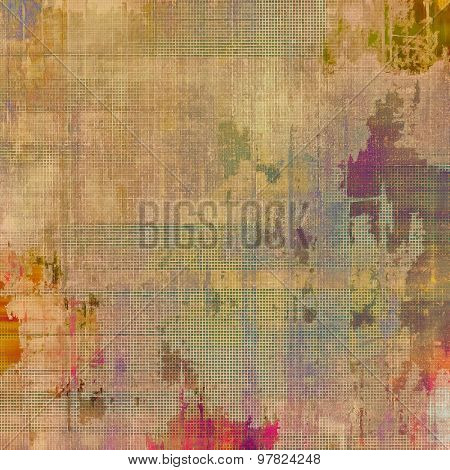 Old ancient texture, may be used as abstract grunge background. With different color patterns: yellow (beige); brown; purple (violet); green