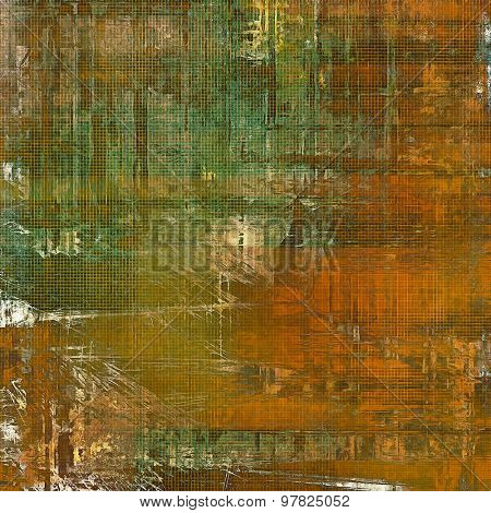 Antique vintage texture, old-fashioned weathered background. With different color patterns: yellow (beige); brown; green; gray