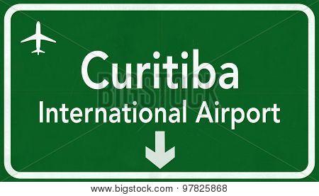 Curitiba Brazil International Airport Highway Sign