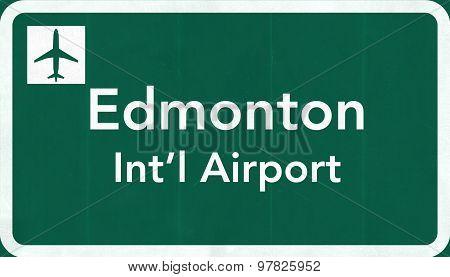 Edmonton Canada International Airport Highway Sign