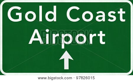 Gold Coast Australia International Airport Highway Sign
