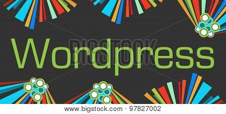 Wordpress Text Dark Colorful Elements