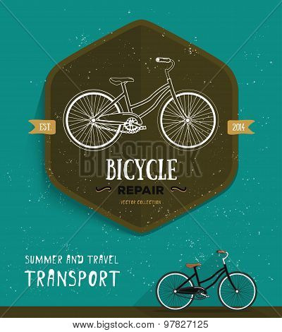 Vector label. Thin line icon for logo, web, mobile, poster, T-shirt. Summer and travel transport bic