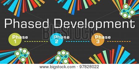 Phased Development Dark Colorful Elements