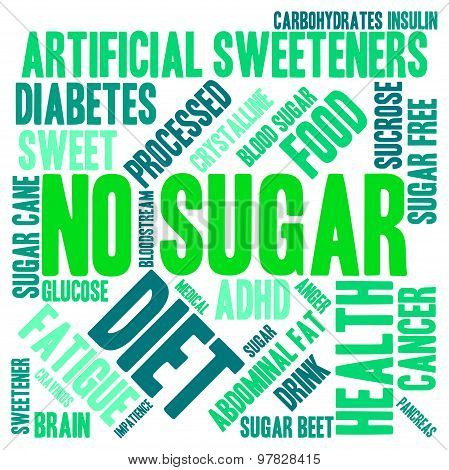 No Sugar Word Cloud