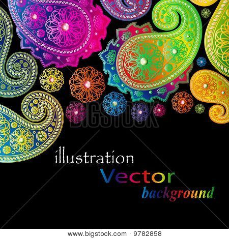 Paisley Designs.Illustration for your design
