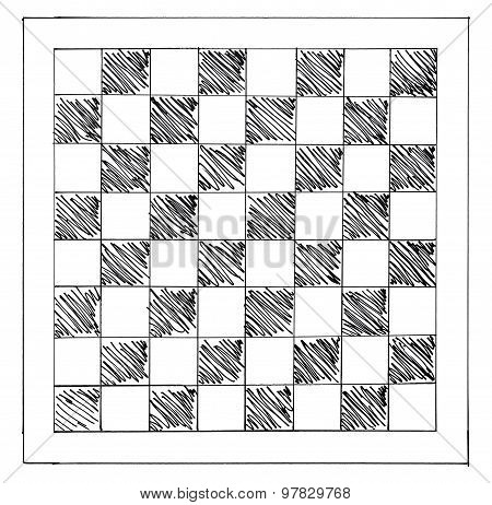 Hand Drawn Chessboard