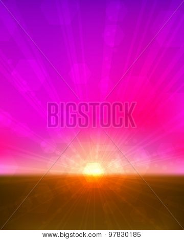 Pinkish sunset vertical background.