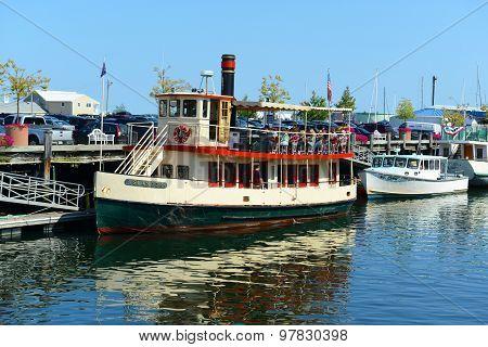 Cruise Boat at Portland, Maine, USA