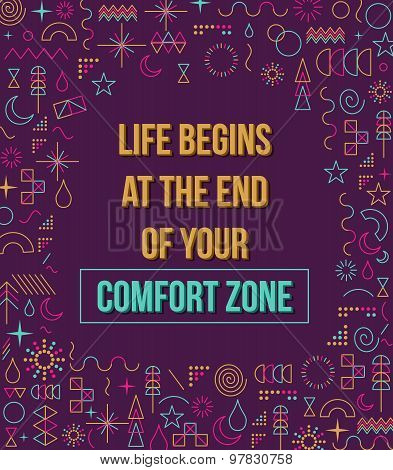 Comfort Zone Inspiration Quote Illustration