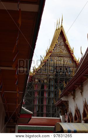 Thai Temple Under Construction