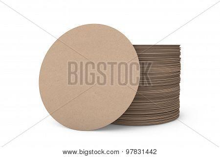 Stack Of Blank Beer Coasters