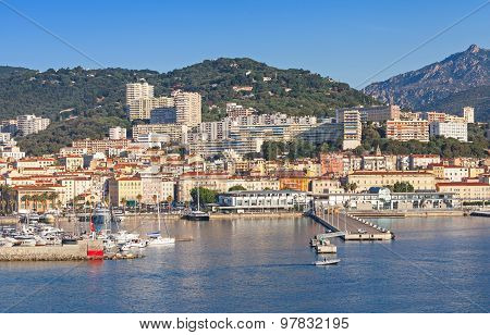 Ajaccio, Coastal Cityscape, Harbor With Marina