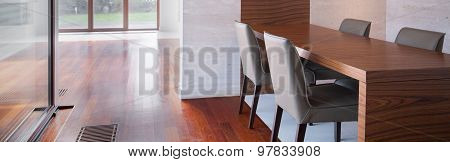 Spacious Interior With Dining Table