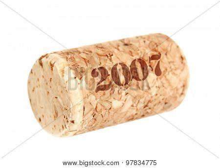 Wine cork isolated on white