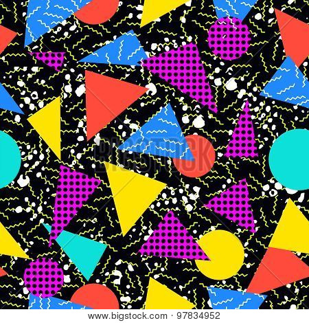 Retro 80S Seamless Pattern