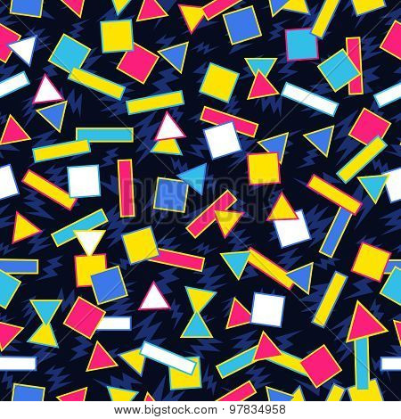 Retro 80S Geometric Pattern