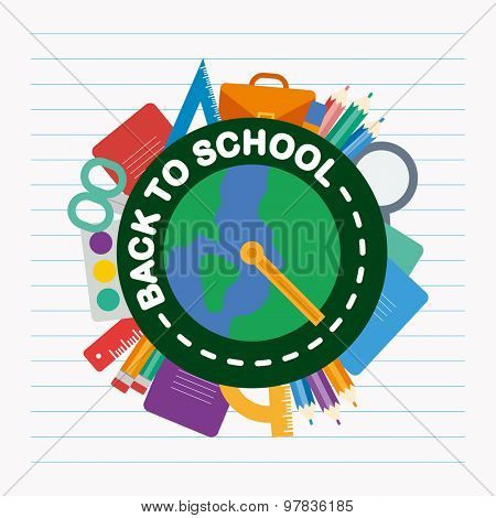 Back to school. Concept vector flat design