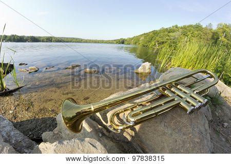 Trumpet Lake Fisheye