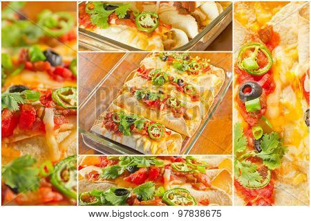 Enchilada Casserole Collage