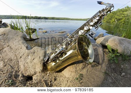 Saxophone Lake Fisheye