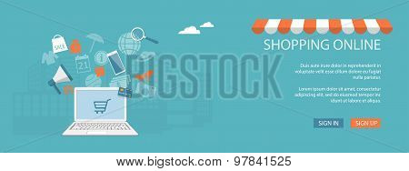 Design For Website Of Shop, Store Online