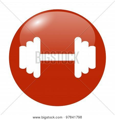 Vector Modern Flat Dumbbell Icon. Eps10