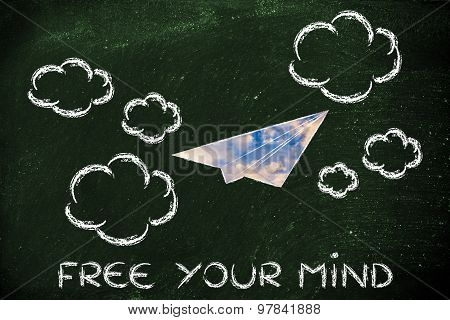 Free Your Creativity (paper Airplane Illustration)