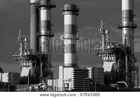 Refining plant industrial background