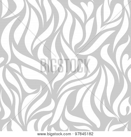 Seamless Pattern With White Tracery On A Gray Background