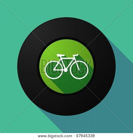 Vinyl Record With A Bicycle