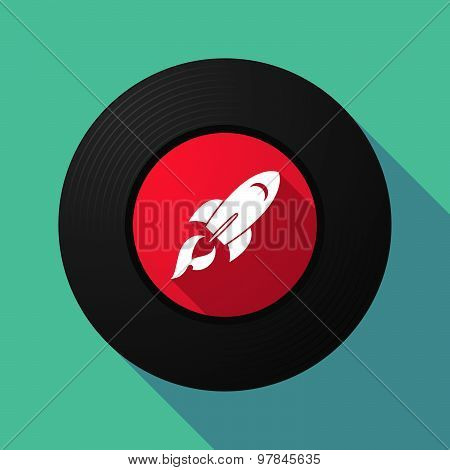 Vinyl Record With A Rocket